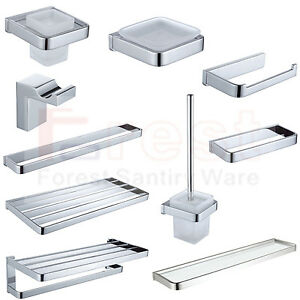 image is loading new luxury square bathroom accessory set chrome brass