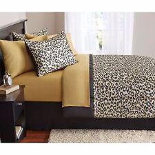 Bedding Set King Size Bed In A Bag Microfiber Comforter Modern Cheetah Animal