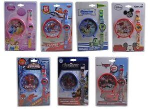 Disney-digital-bracelet-montre-amp-horloge-ensemble-cadeau-DISNEY-PRINCESSE-VOITURES-amp-plus
