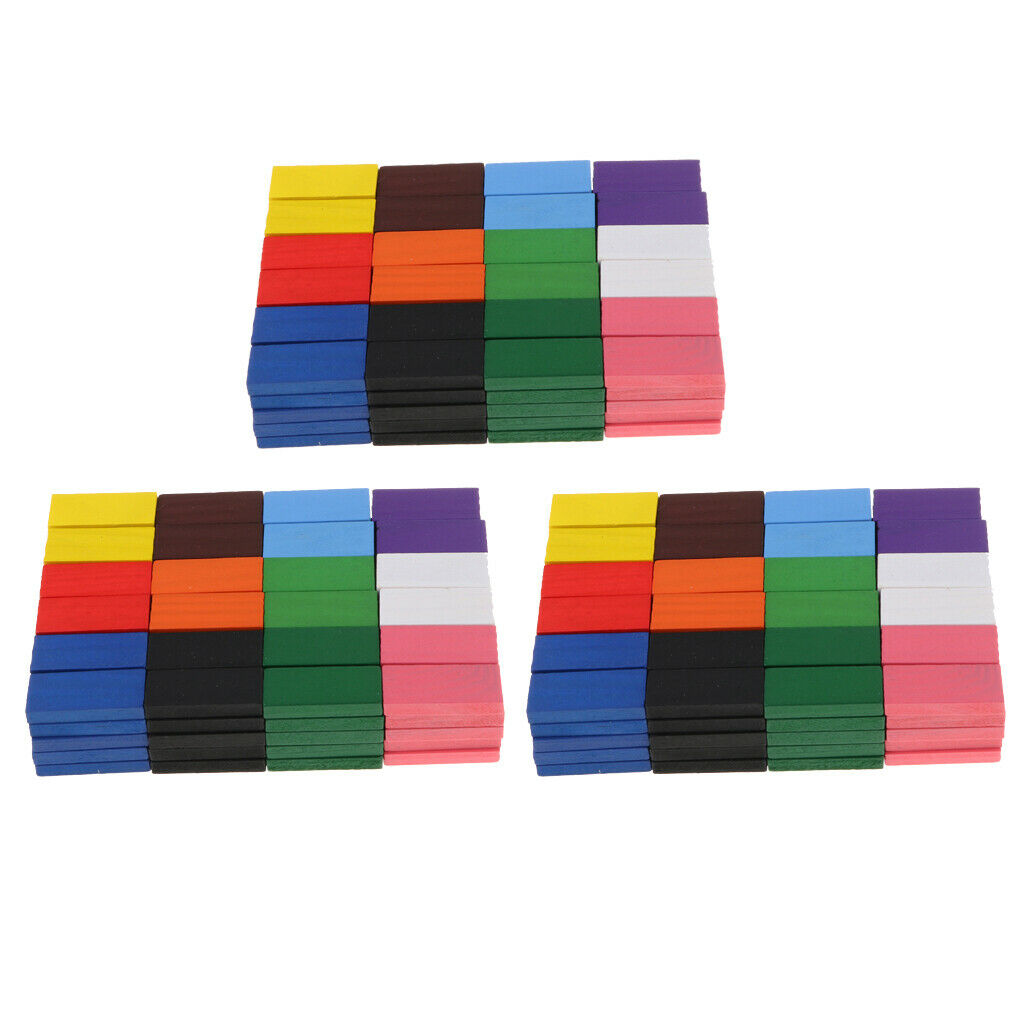 360 Stücke Mehrfarbige Holz Dominos Block Dominosteine Dominospiel