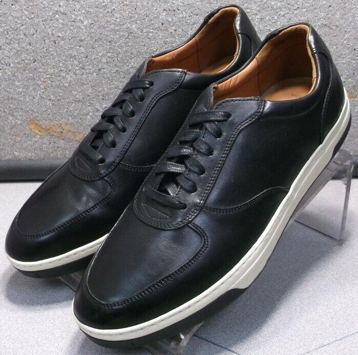 252685 ES50 Men's shoes Size 11.5 M Black Leather Lace Up Johnston & Murphy