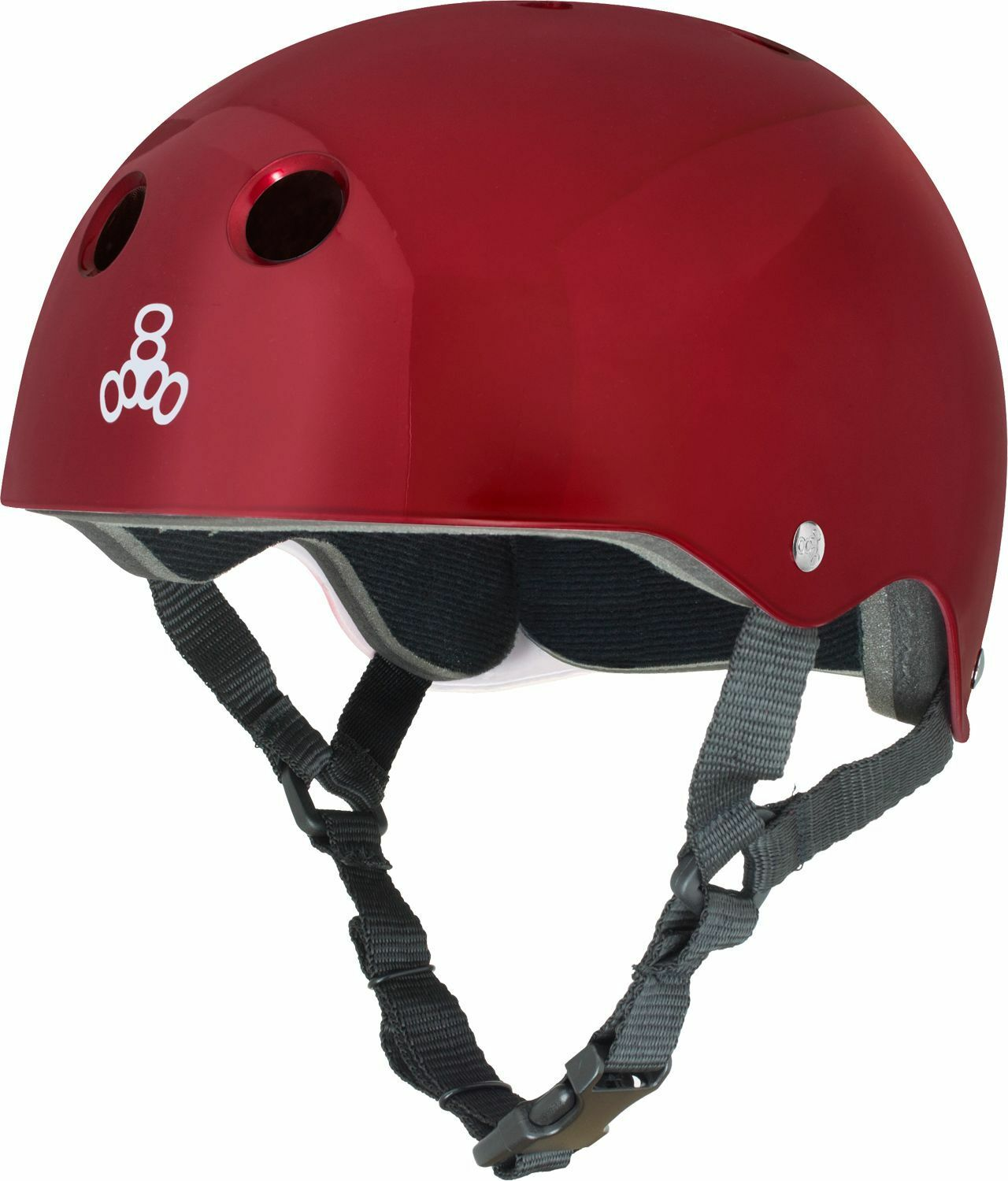 Triple 8 Helmet Red Metallic Std.Liner L