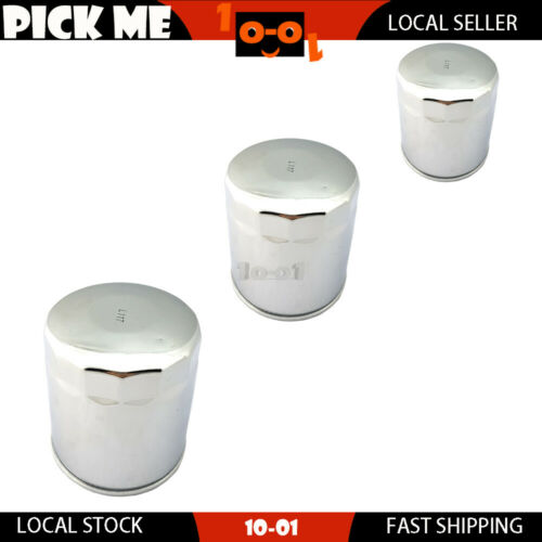 Details about  /3Pcs Silvery Oil Filter For Harley DavidsonFXSTB Night Train1999
