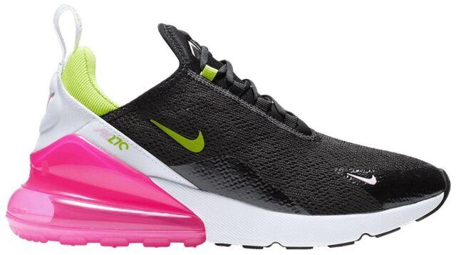 Women S Nike Air Max 270 Black Cyber Pink Running Shoe Ci5770 001