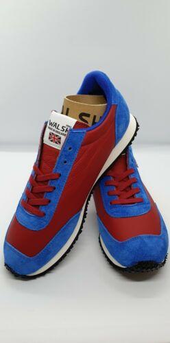 Entièrement neuf dans sa boîte Walsh Style Rétro Baskets Tornado Red & Blue UK 3 EUR 36 UK gratuit Post *
