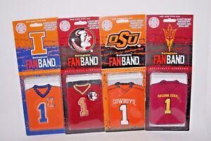Football-Wristband-Collegiate-Fanband-Illinois-Seminoles-Cowboys-Arizona-State