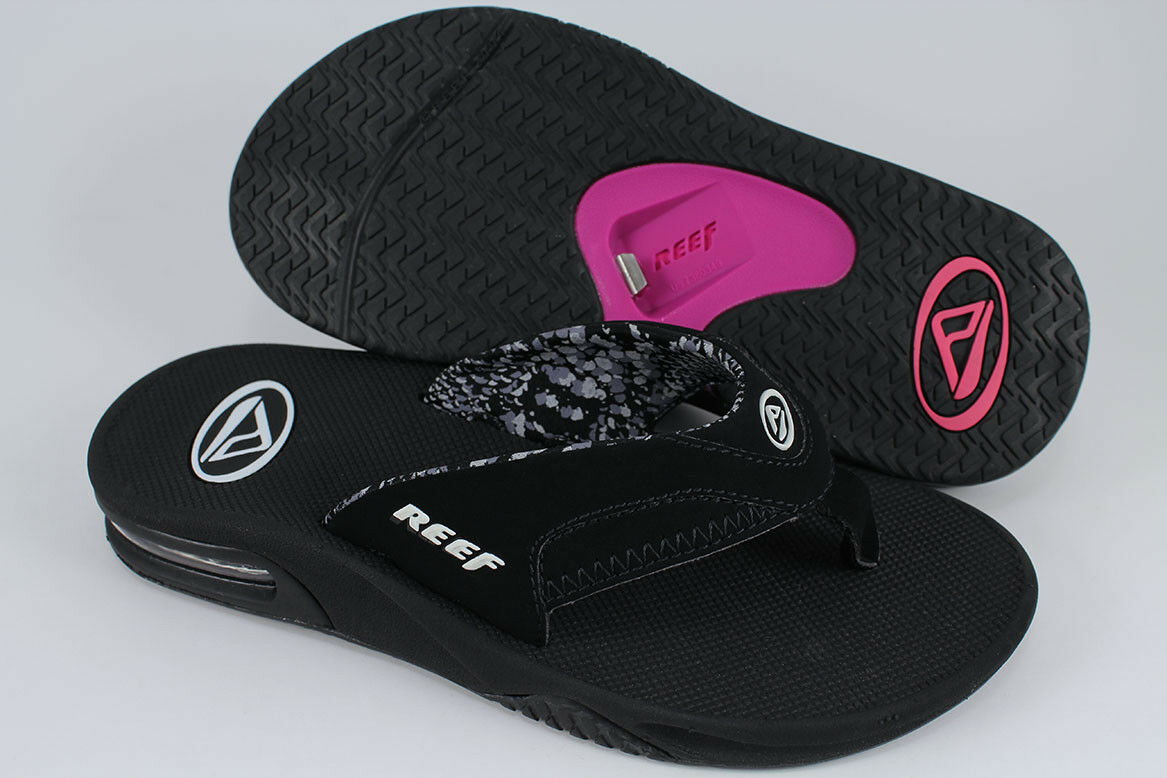 REEF FANNING BLACK/Weiß/GRAY/PINK US PURPLE FLIP FLOPS THONG SANDALS US BLACK/Weiß/GRAY/PINK WOMEN SIZE 327d12