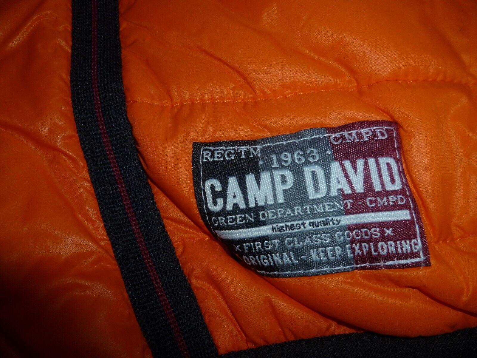 TOP NEU Herren Männer Outdoor Weste Steppweste mit Kapuze Kapuze Kapuze Orange CAMP DAVID Gr.M 544480