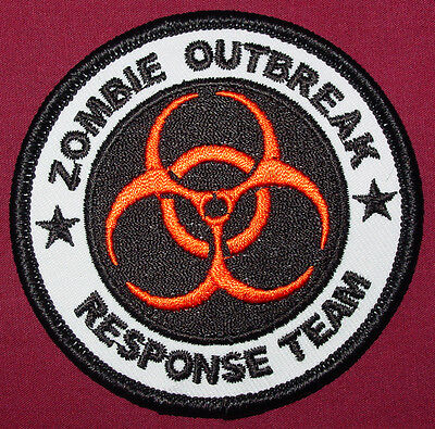ZOMBIE HUNTER  EMBROIDERED IRON ON 3 INCH OR1 PATCH