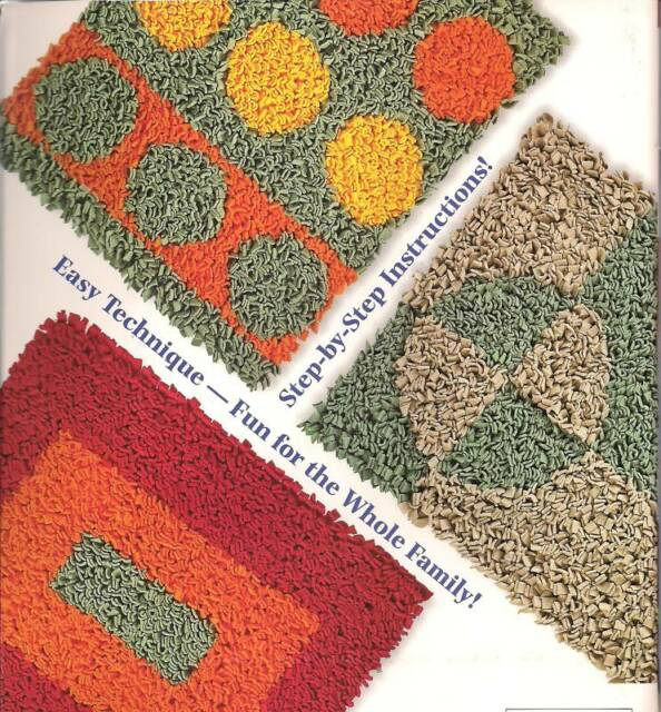Hooked On A Look Latch Hook Rug Patterns Make Rugs W Fleece Rugmaking
