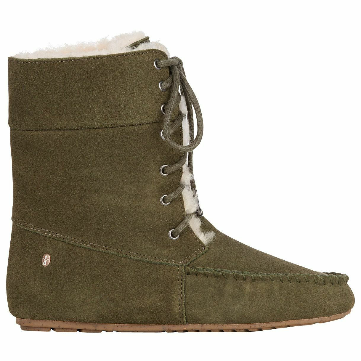Women's Emu Australia Brooklyn Bootie Khaki Size 9 9 9  NJZZ8-645 95ee87