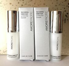 Lot (2) AmorePacific Amore Pacific The Essential Creme Fluid Samples .16 oz Each