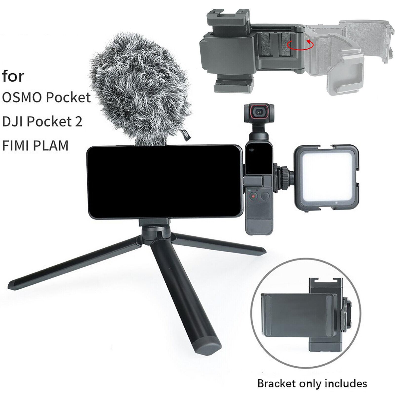 Telescopic Phone Holder Extension Bracket Stand for DJI OSMO Pocket 2 FIMI PLAM