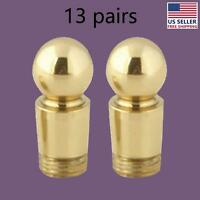 13 Pairs Carpet Rod Finials Bright Brass Ball Tips | Renovator's Supply