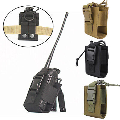 Hunting Orderly Military Tactical Molle Radio Pouch Mbitr Walkie Talkie Holder Bag Black/tan/od