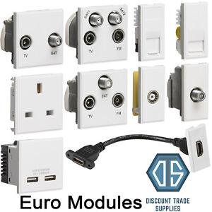 white euro data module inserts hdmi tv satellite cat5 cat6 quad rh ebay co uk