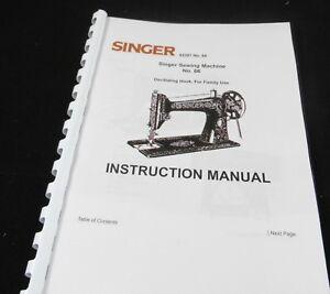 Singer-No-66-sewing-machine-printed-Instruction-Manual-printed-user-guide