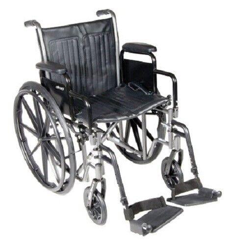 "18"" Wheelchair, Steel Frame, Black, Detachable Desk Arm, Swing Away Foot Rest   eBay"