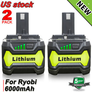 P108 Für Ryobi Akku 18V 6,0Ah Lithium Ionen Batterie One Plus RB18L50 P104 P107
