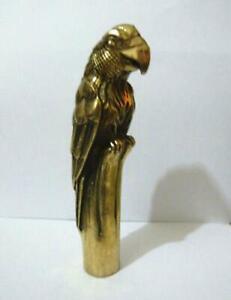 tête de bâton de canne Statue asiatique en bronze sculpté à l/'aigle