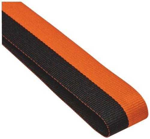100 x orange et noir médaille rubans Cordons or avec clips 22 mm large