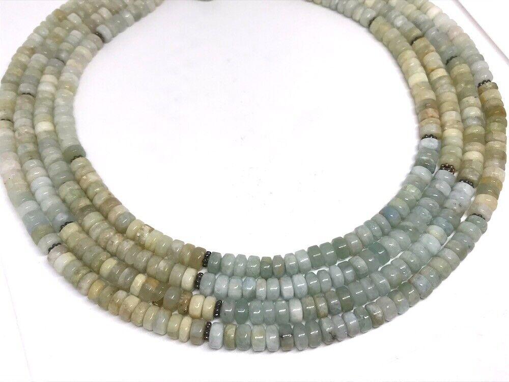 Diana Venezia Green to Blue Hue Aquamarine Bead S… - image 3