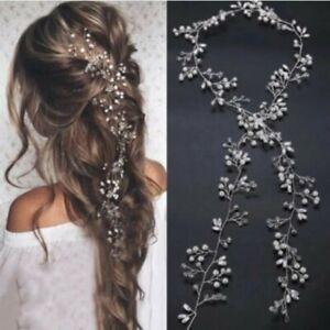Pearl Wedding Hair Vine Bridal Accessories Headband Women Hair Jewe_dr