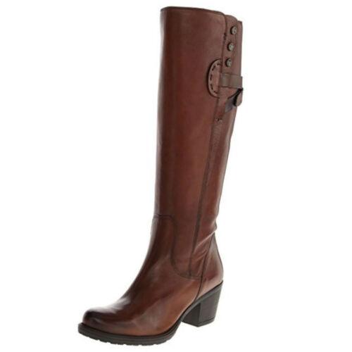 para Botas cremallera Maymie de cuero Hasta Cognac y mujer Stellar la rodilla ajuste altas con Clarks elegante rrf5x