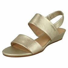 960104adfec item 2 LADIES CLARKS SENSE LILY SLINGBACK OPEN TOE SUMMER SANDALS WEDGE  HEEL PARTY SIZE -LADIES CLARKS SENSE LILY SLINGBACK OPEN TOE SUMMER SANDALS  WEDGE ...