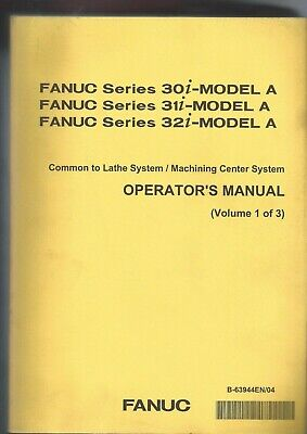 Fanuc 30i-model A 31i-model A 32i-model A Operator's Manual 1 Of 3