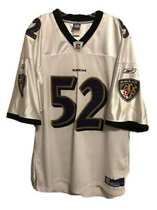 Details about RAY LEWIS Authentic On Field BALTIMORE RAVENS Reebok Jersey Sewn Embroidered 4XL