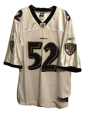 RAY LEWIS Authentic On Field BALTIMORE RAVENS Reebok Jersey Sewn Embroidered 4XL | eBay