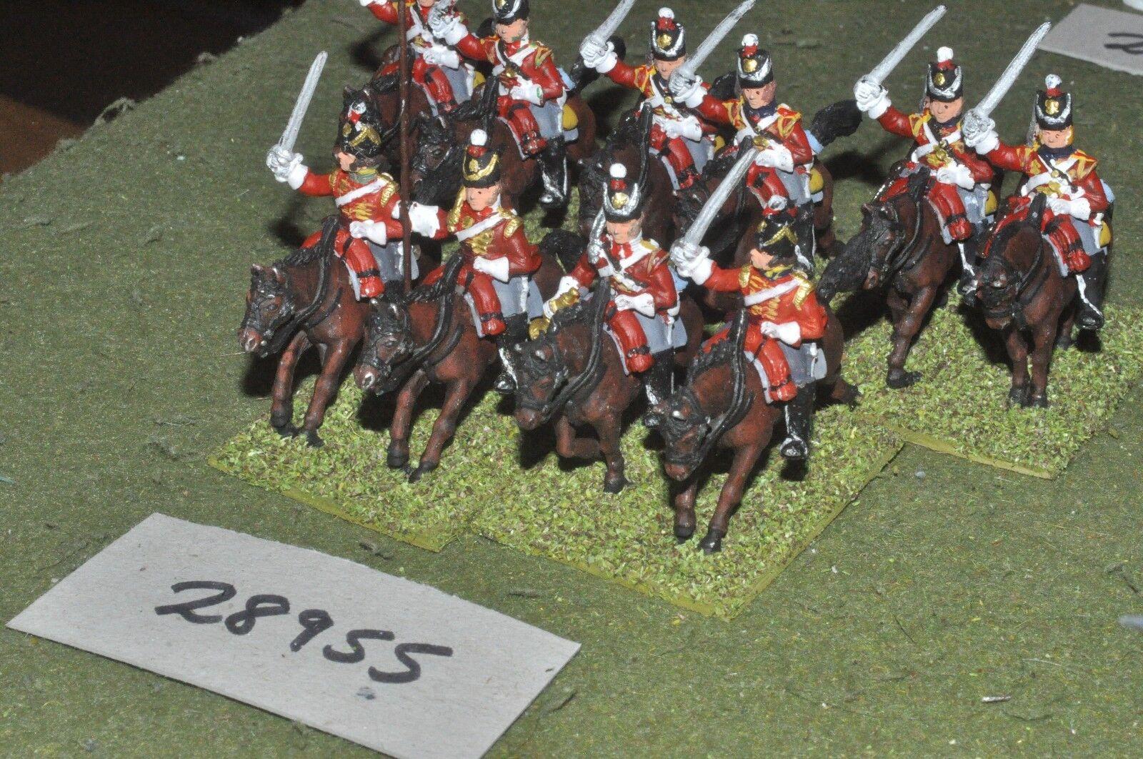 25mm napoleónicas británico Dragones 10 figuras-CAV (28955)
