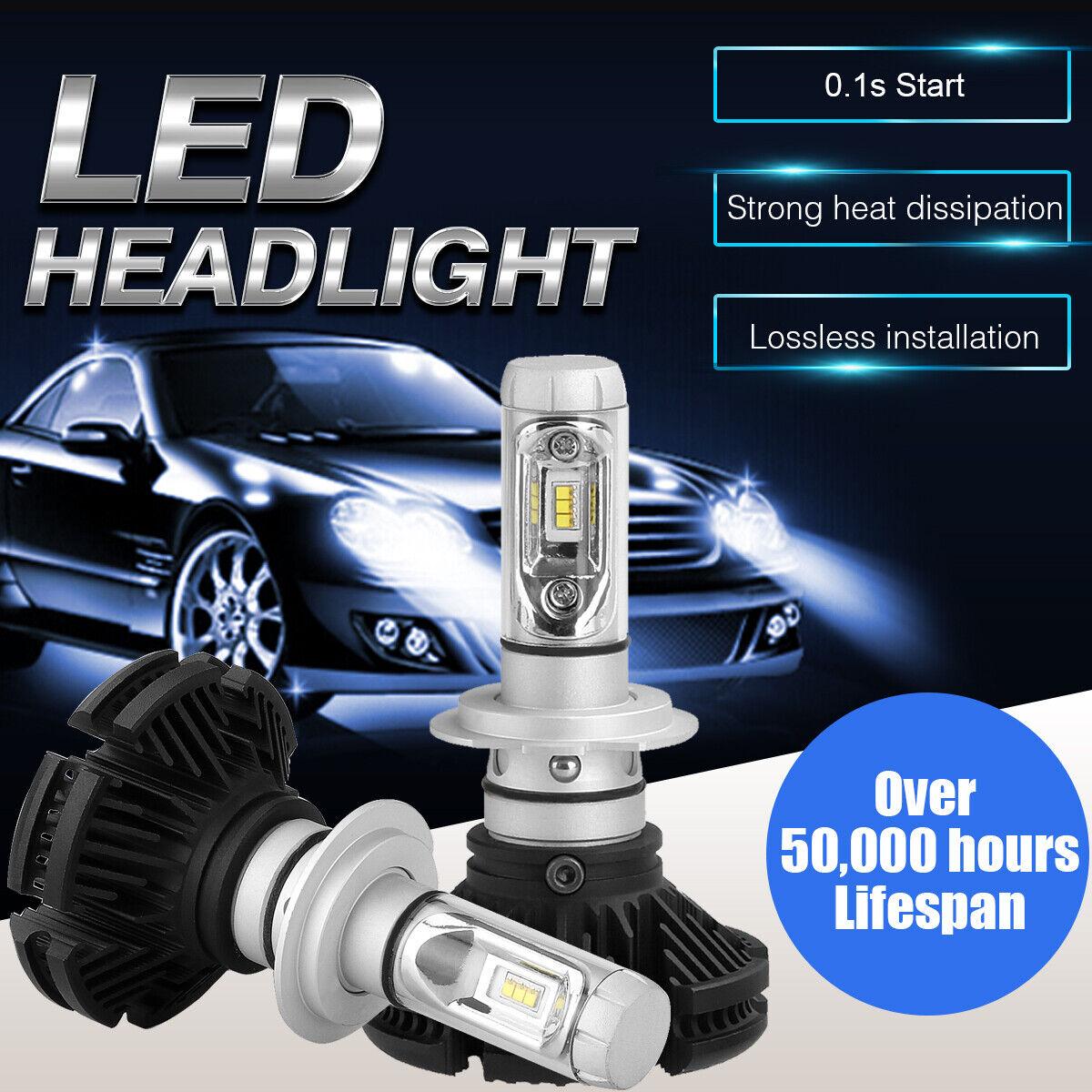 LED Headlight Bulbs Kit CREE H7 for BMW 328d 2014-2016 Low Beam 6000K