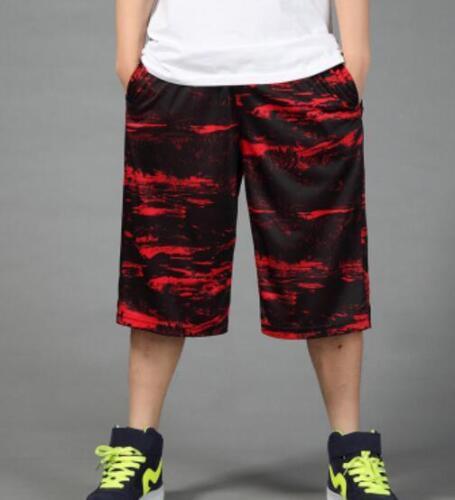 Mens Casual Loose Wide Leg Short Pants Sports Basketball Shorts Oversize Plus