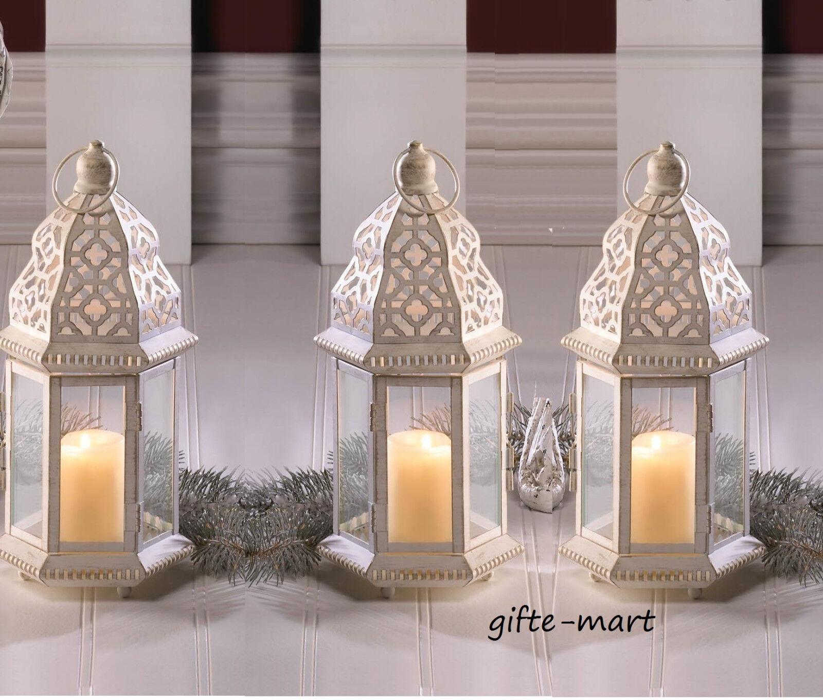 15 bulk lot White Mgoldccan 12  shabby Candle holder lantern wedding centerpiece