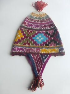 b3501ab7522 Image is loading Andean-Mountain-Shaman-Chullo-Hat-Alpaca-Fiber-Naturally-