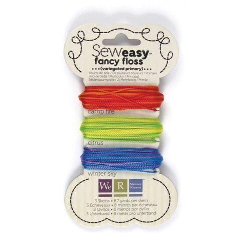 Fancy Floss VARIEGATED PRIMARY 26-yd We R Memory Keepers Sew Easy