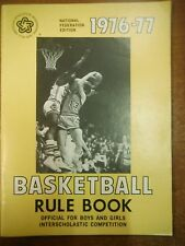 1976-77 National Federation Edition Basketball Rule Book State High School1229SM