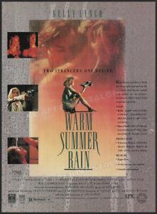 WARM SUMMER RAIN__Original 1990 Trade Print AD / ADVERT__KELLY LYNCH__BARRY TUBB