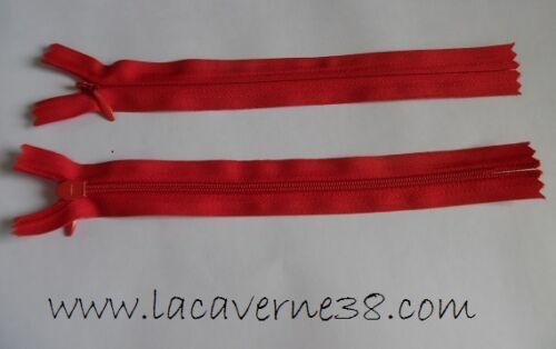 Fermeture éclair invisible 36 cm glissière couleurs au choix mercerie couture