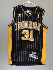separation shoes 217ec 60574 Details about NWT Reggie Miller #31 NBA Indiana Pacers Swingman Throwback  Jersey Man