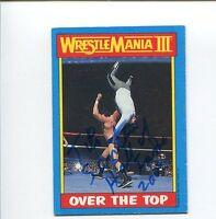 Tito Santana WWE WWF Wrestler HOF 1987 Topps Signed Autograph Photo Card