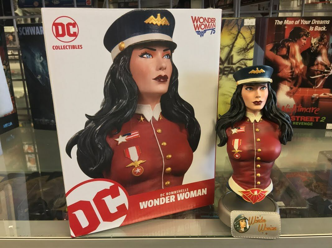 DC Bombshells 7'' WONDER WOMAN Statue Bust Limited DC Collectibles New Opened