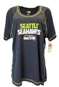 NFL-Seattle-Seahawks-Women-039-s-Scoop-Neck-Tee-Blue-Plus-SizeS-1x-2x-3x-nwt
