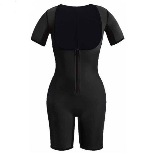 Sweat Thermo Neoprene Full Body Shaper Zipper Waist Trainer Bodysuit Lose Weight