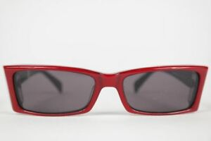 Vintage-Eschenbach-4962-51-15-Red-Oval-Sunglasses-NOS