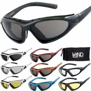 45d34b2dcb1 Image is loading WYND-Blocker-Sports-amp-Motorcycle-Riding-Glasses-Boating-