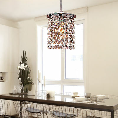 Luxury Crystal LED Chandelier Fixture Pendant Lamp Lighting Small Ceiling Light