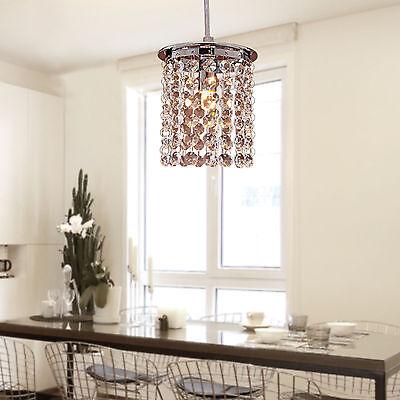 Luxury Crystal LED Chandelier Fixture Pendant Lamp Lighting Small Ceiling Light